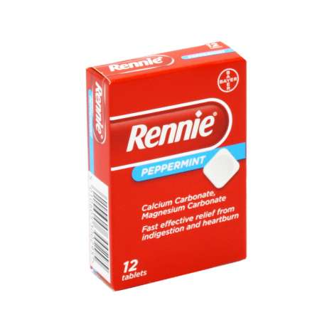 Rennie Tablets 12 Pack - Peppermint