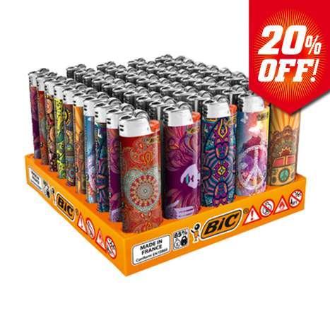 BIC Maxi Flint Lighters J26 Decor - Hippie Dream