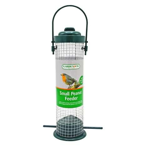 Garden & Co Small Peanut Feeder With Bird Perch