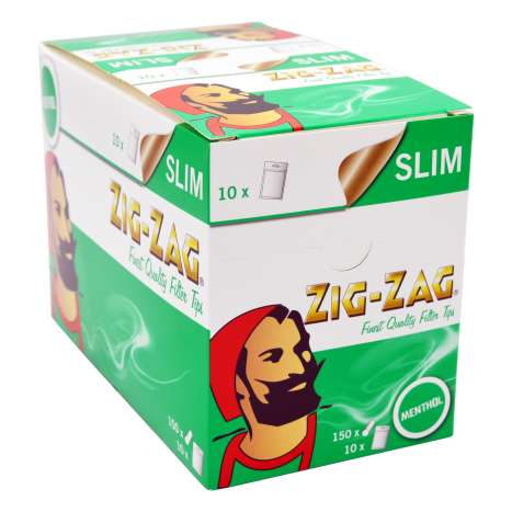 Zig-Zag Slim Menthol Filter Tips 150 Pack