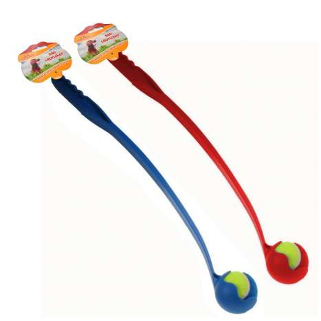 Dog ball launcher - red and blue assorted