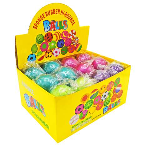 Sponge Rubber Hi-Bounce Balls - Assorted Colours