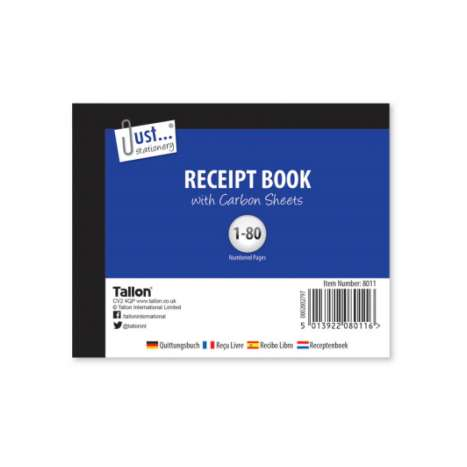 Receipt book 80 page
