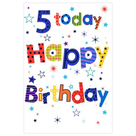 Everyday Greeting Cards Code 50 - Age 5