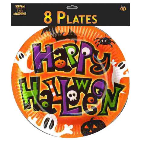 Scream Machine Halloween Plates 8 Pack