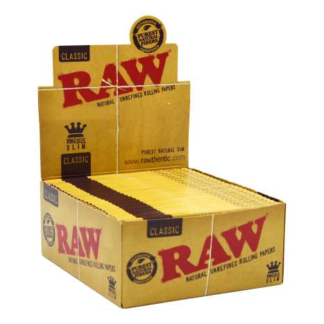 RAW Classic King Size Slim Rolling Papers 32 Pack