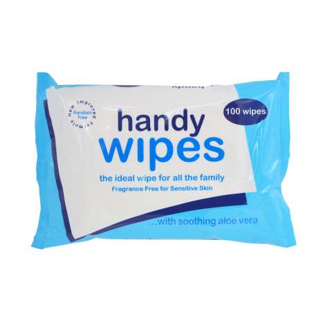 Handy Wipes With Aloe Vera 100 Pack