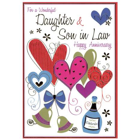 Everyday cards code 75 - Daughter & Son in Law Anniversary
