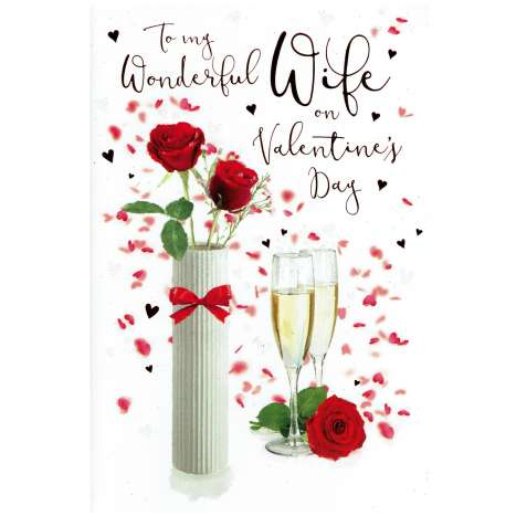Valentines Day Cards - Wife (Code 75 - cellophane wrapped)