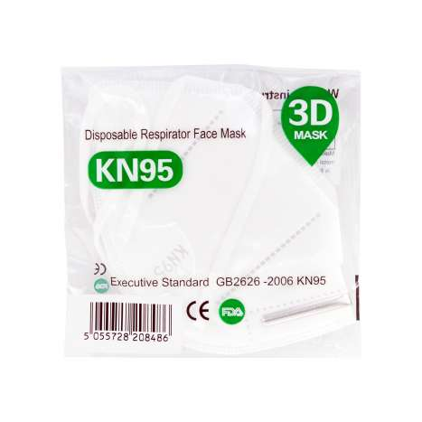 KN95 Disposable Respirator Face Mask (Single)