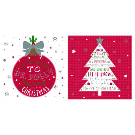 12 Bauble acetate cards