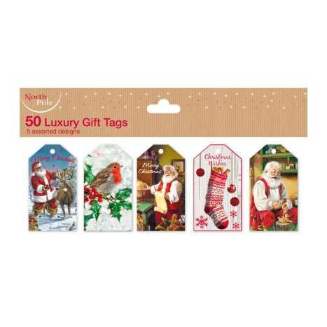 Die cut traditional tags 50pk