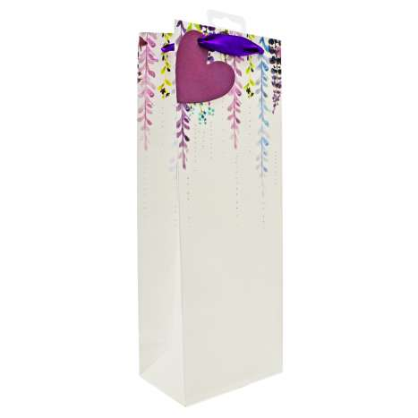 Bottle Gift Bags - Falling Floral