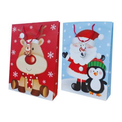 L bag - reindeer & Santa 2 designs (6 of each)