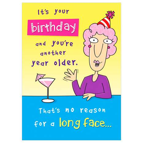 Garlanna Greeting Cards Code 50 - Humour Long Face