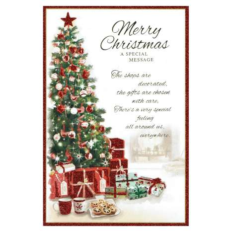 Christmas Cards Code 75 - Merry Christmas (Open)