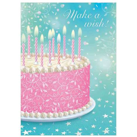 Garlanna Greeting Cards Code 50 - Make A Wish