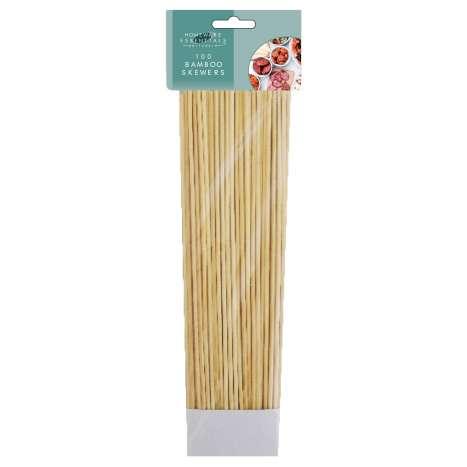Homeware Essentials Bamboo Skewers 100 Pack - Clip Strip Provided