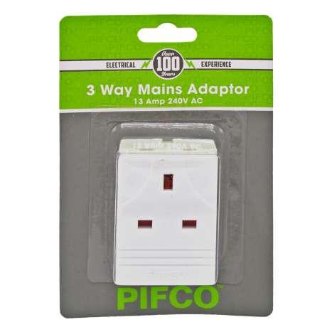 Pifco 3 Way Adaptor