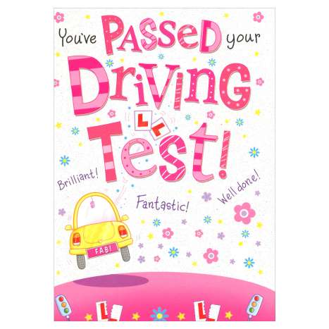 Everyday Greeting Cards Code 50 - Passed/Driving Test