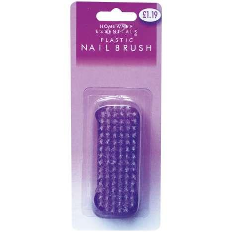 Plastic nail brush (half case)