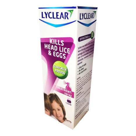 Lyclear lotion 100ml plus comb (for head lice)