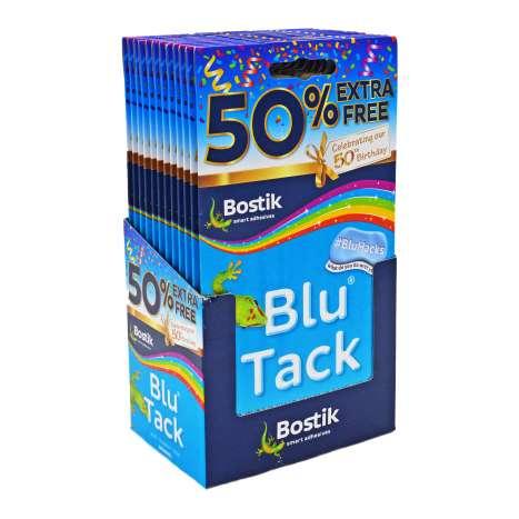 Bostik Blu Tack - Blue +50% Extra Free
