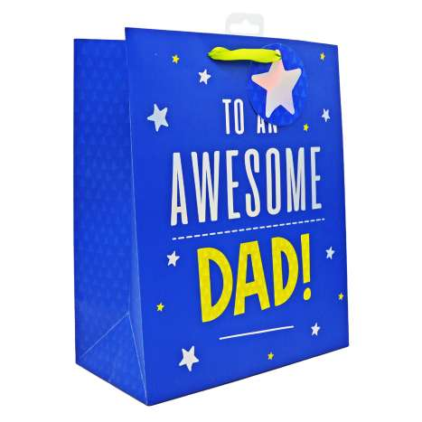 Large Gift Bags - Awesome Dad (26.5cm x 33cm)