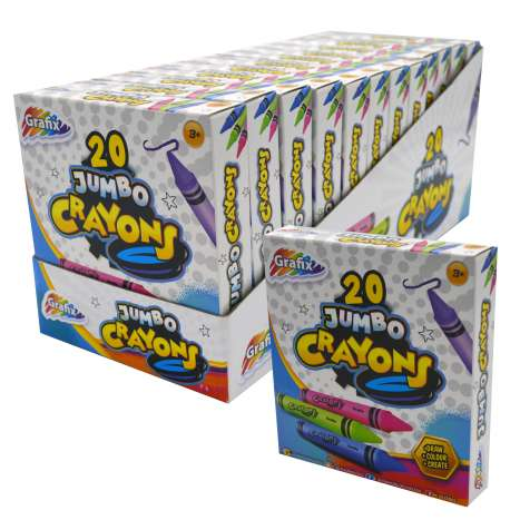 Grafix jumbo crayons 20PK - in display