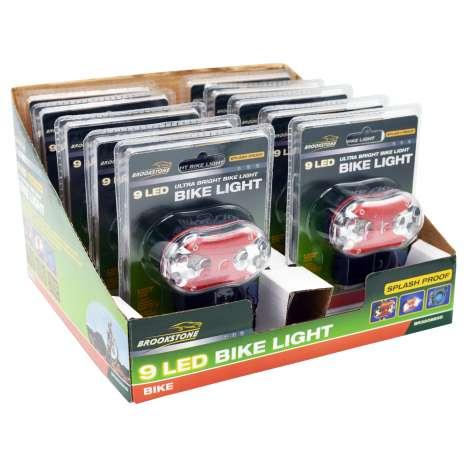 Brookstone 9 LED Splash Proof Bike Light