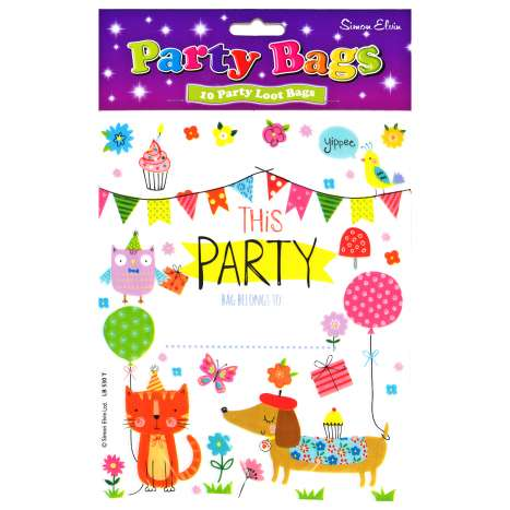 Party Loot Bags 10 Pack - White