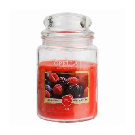 Opella Jumbo Jar Scented Candle 450g - Fresh Berries