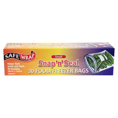 Safe Wrap Small Food/Freezer Bags 30 Pack