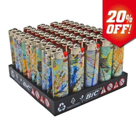 BIC Maxi Flint Lighters J26 Decor - Leaves