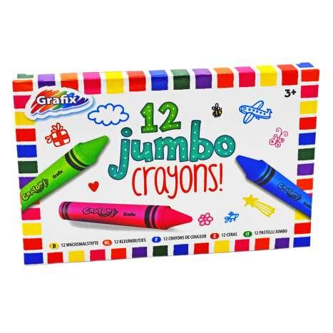 Super Jumbo Crayons 12 Pack