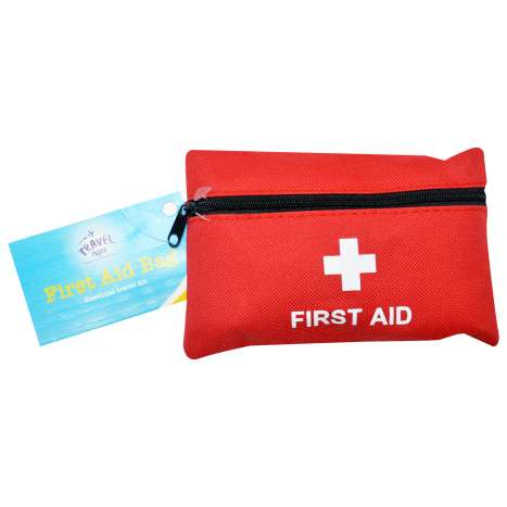 Travel first aid kit (contents detailed in listing)