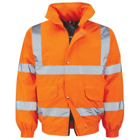 Vizwear Hi-Viz jacket - Orange Bomber - 3XL