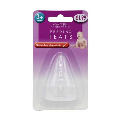 Homeware Essentials Silicone Feeding Teats 2 Pack
