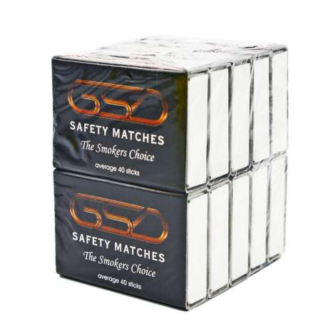 GSD Safety Matches Multi-pack (40 Sticks x 10 Boxes)