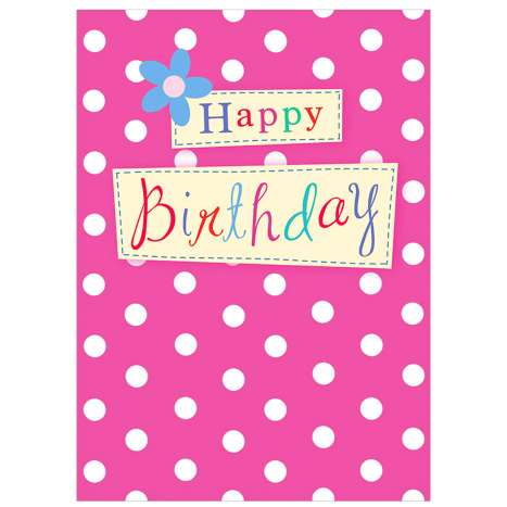 Garlanna Greeting Cards Code 50 - Birthday Polka Dot