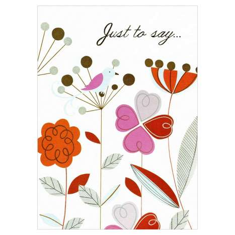 Garlanna Greeting Cards Code 50 - Just to Say