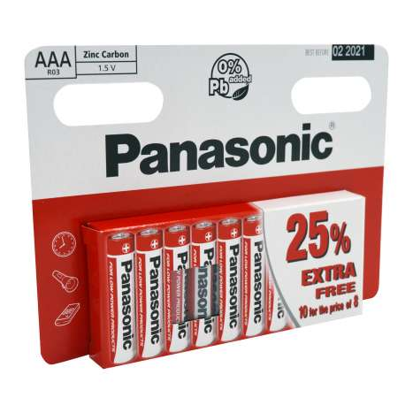 Panasonic AAA Batteries 10 Pack