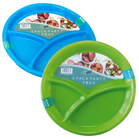 Snack tray party plates 2PK