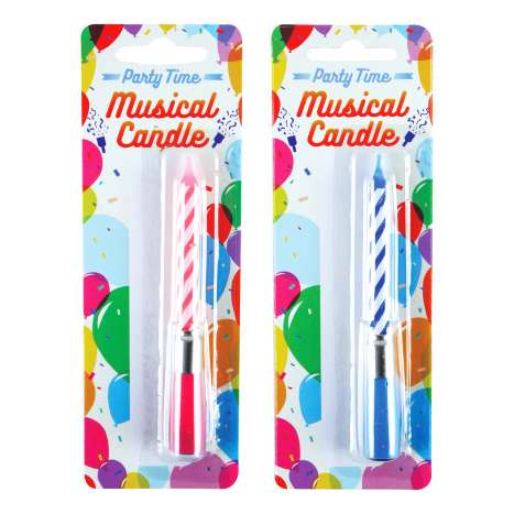 Party Time Musical Candle - Assorted Colours