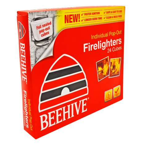 Beehive Firelighters 24 Cubes