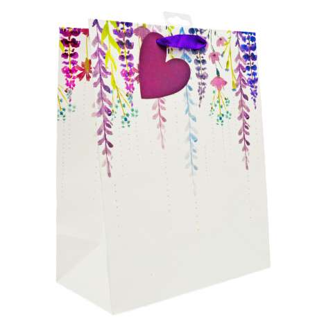 Large Gift Bags - Falling Floral (26.5cm x 33cm)