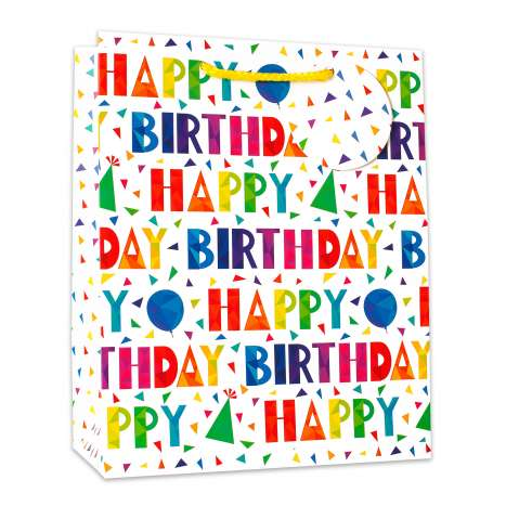 Gift bag large 8007l happy birthday (26cm x 32cm)