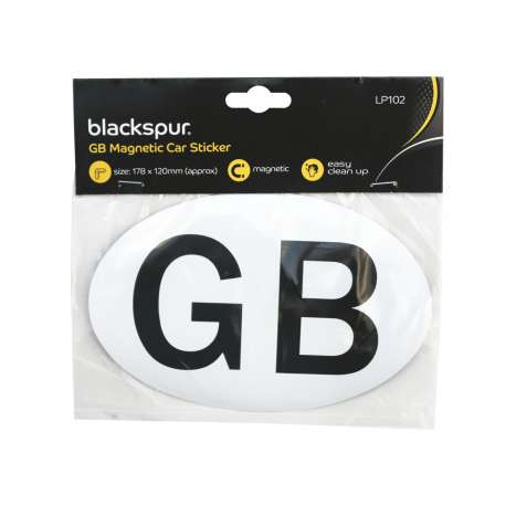 GB magnetic car sticker oval approx. 178x120mm