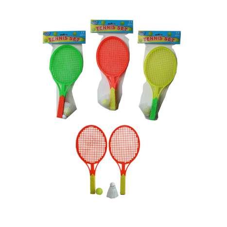Tennis Set With Ball & Shuttlecock