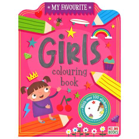 Girls Colouring Book 72 Pages + 100 Stickers